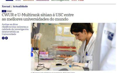 A USC elixida entre as 500 universidades do mundo